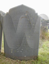 Headstone for Mary Lewis